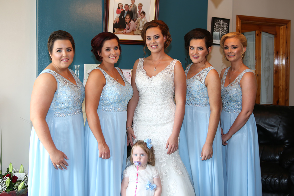 Bride, Bridesmaids and Flowergirl