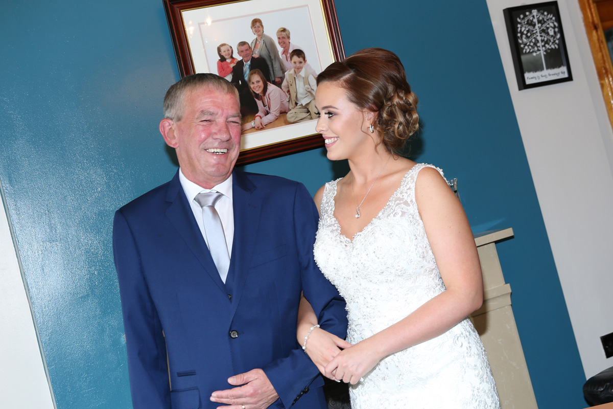 Bride with her dad
