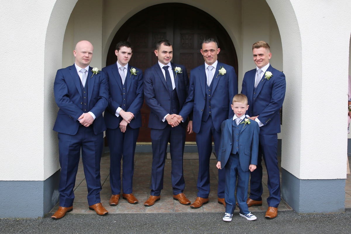 Groom with Bestmen and Pageboy