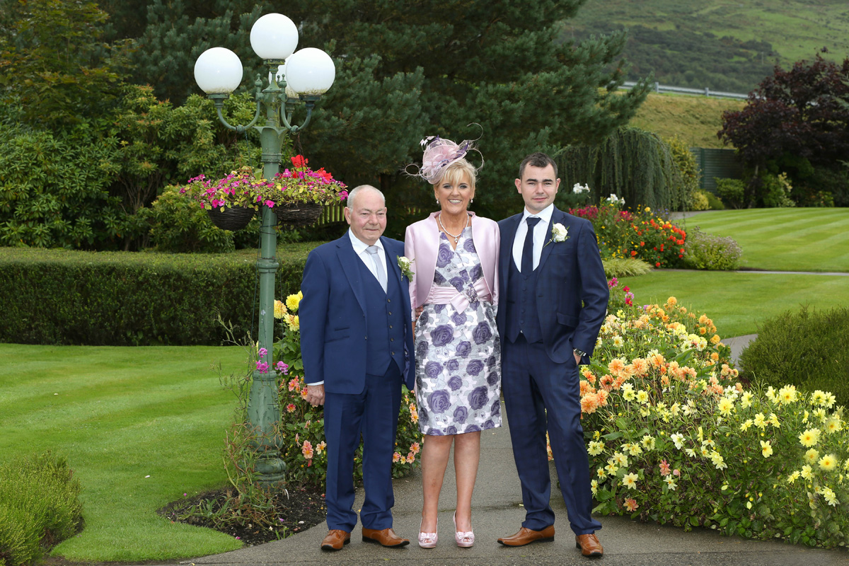 Groom with his parents