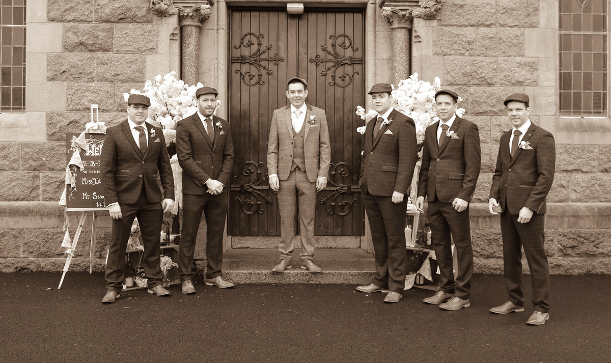 Groom with Bestmen and Ushers