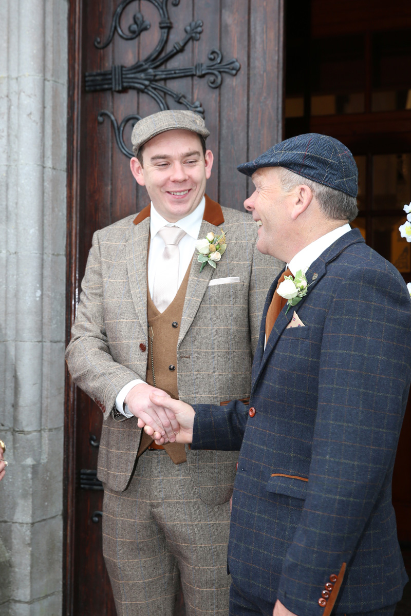 Groom with his dad