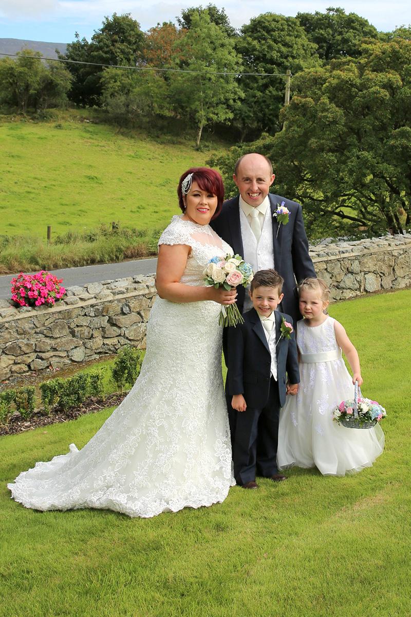 Bride, Groom, Flowergirl and pageboy