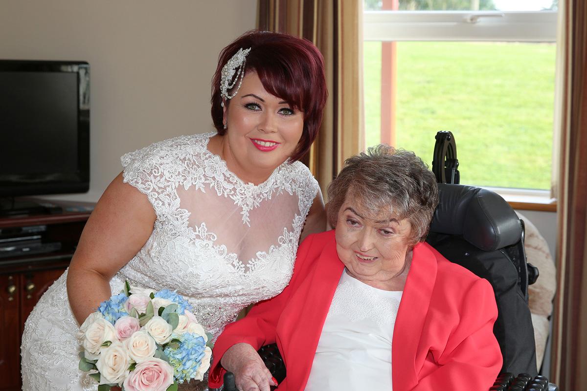 Bride and brides mum