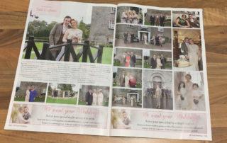 Magazine Displaying Recent Wedding