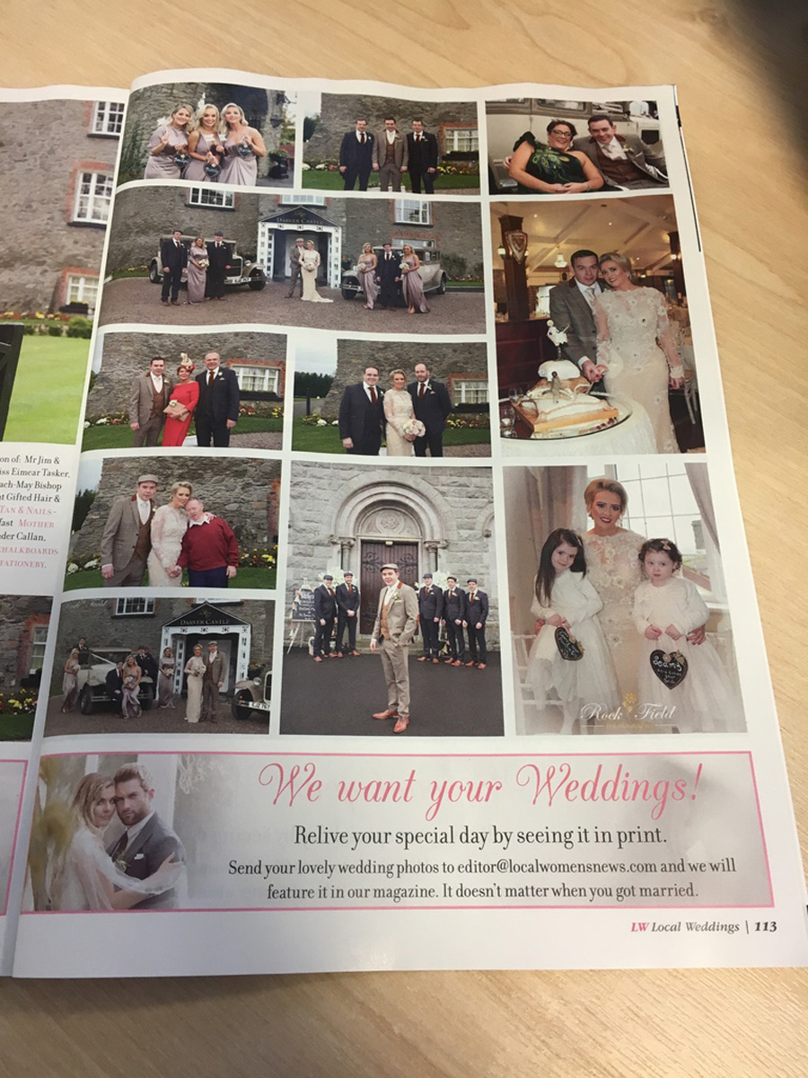 Magazine Displaying Recent Wedding