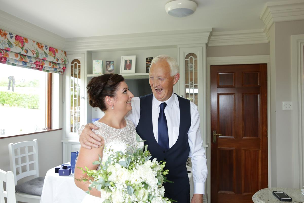 Bride & her dad