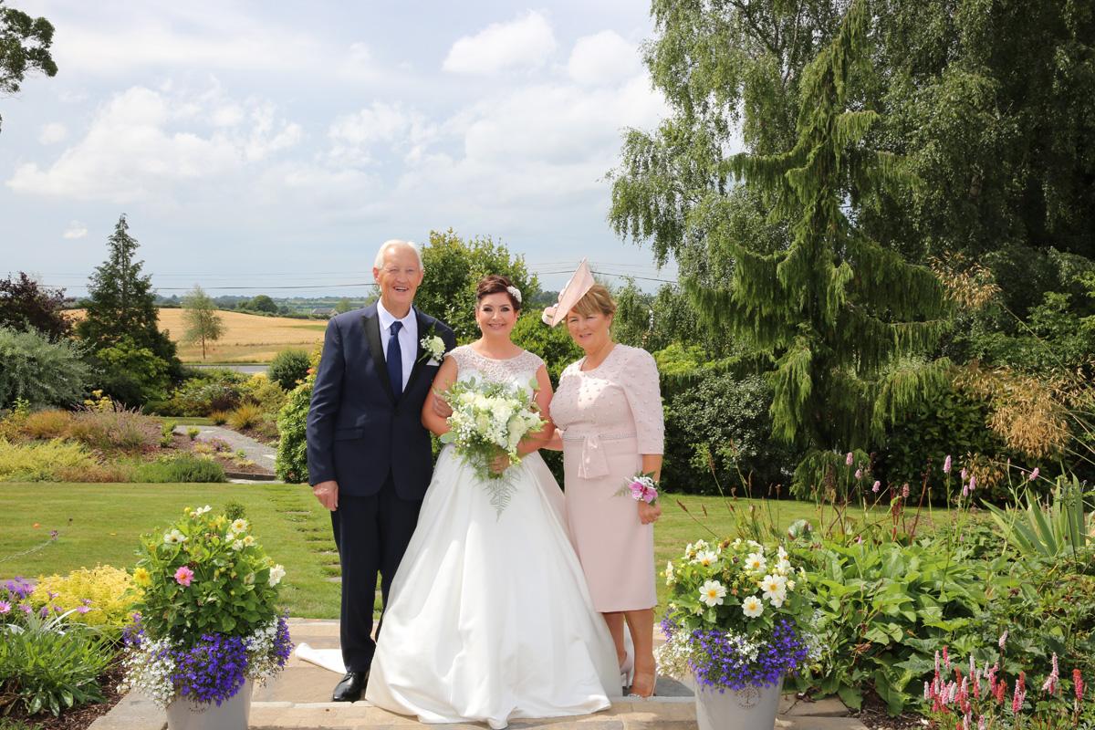 Bride & her parents