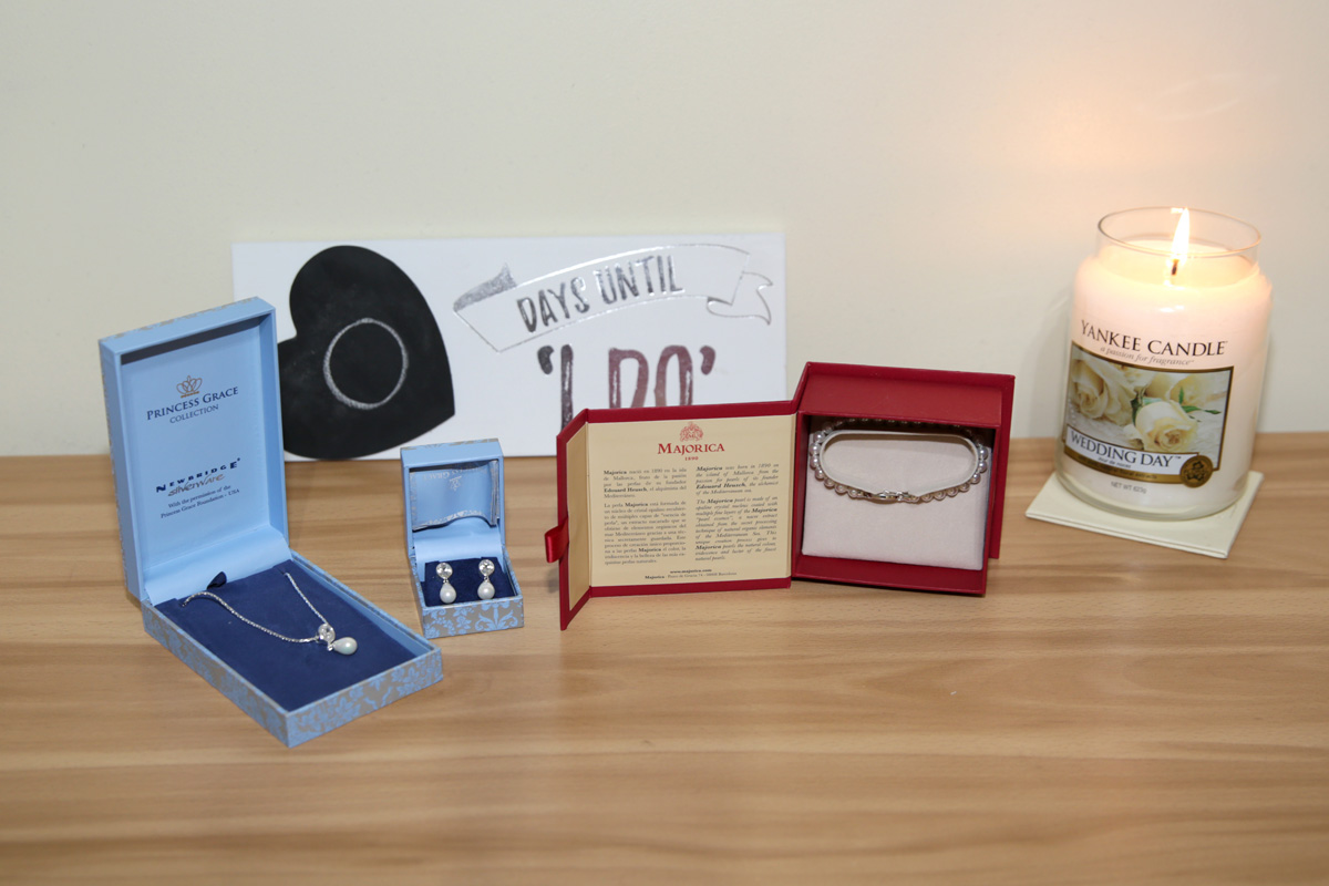 Wedding Candle and Jewellery